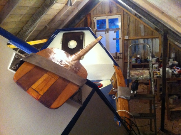 122 ) Spare Oars storage doubles as handrail