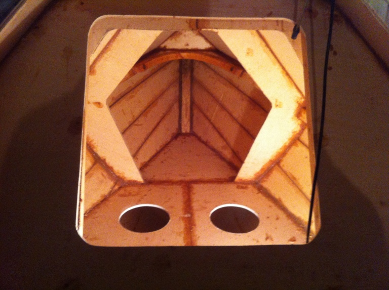 54) LOOKING INTO FWD COMPARTMENT