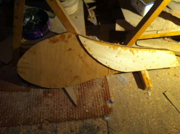 61) RUDDER BEFORE SHAPING