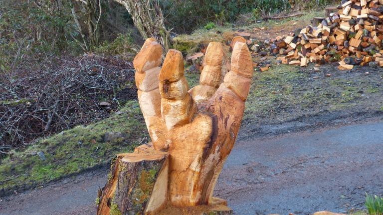 'HAND' IN PROGRESS