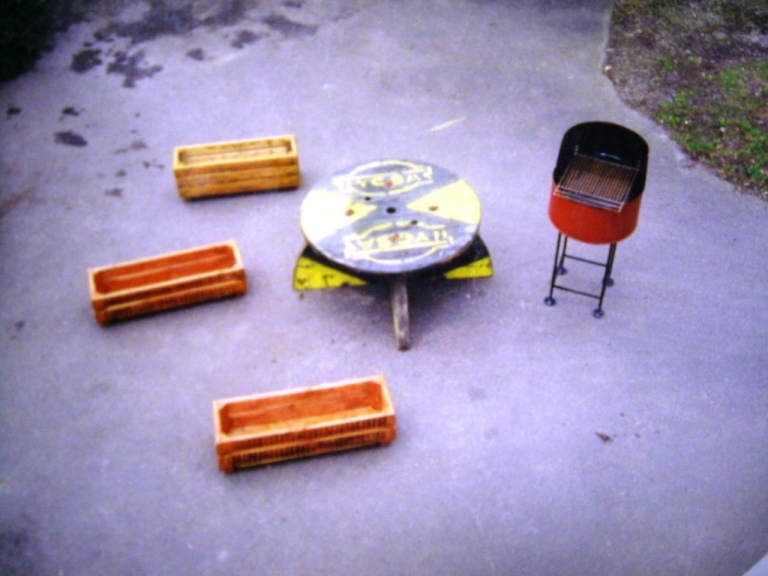 RECYCLED BBQ AND PLANTERS